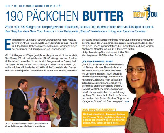 190 Päckchen Butter mit Personal Trainer Neuss Michael Hambloch