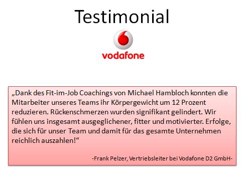 Testimonial Vodafone