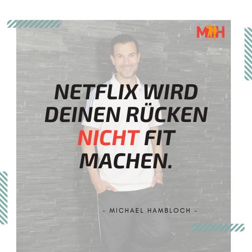 Rückenfit mit Netflix auf der Couch?