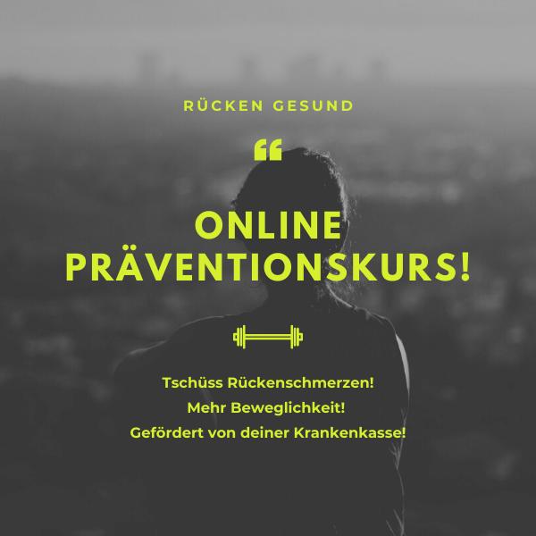 Online Präventionskurs Rücken Gesund