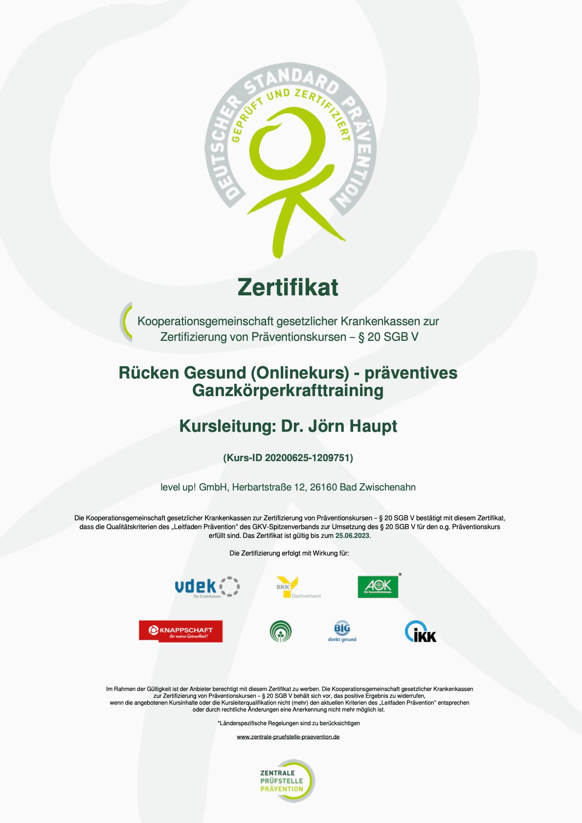 Zertifikat-Rücken-Gesund-Onlinekurs-Zentrale-Prüfstelle-Prävention